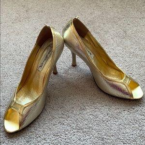 Costa Blanca gold high heels